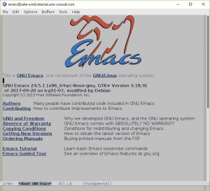 Screenshot of an Ubuntu GNU Emacs 24.5 running on Windows